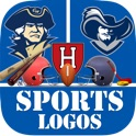 Sports Logos quiz game (University and college sport logo guessing games) cool new and fun games to help you learn the mascots and brands of your favorite professional and collegiate athletics basketb icon