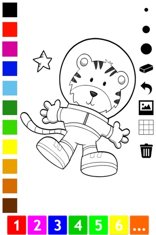 An Outer Space Coloring Book for Children: Learn to color astronaut, alien and ufo screenshot 2