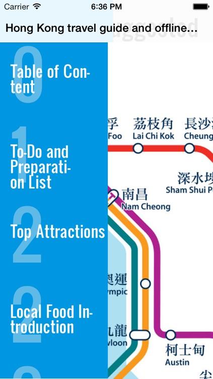 Hong Kong travel guide and map offlinehongkong maps metro