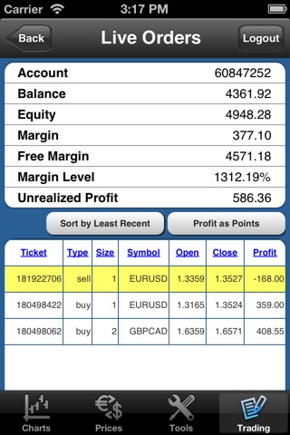 Forex On The Go Lite screenshot 3