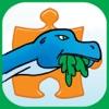 Dinosaurier-Puzzle Kostenlose – Animierter Puzzlespaß für Kinder mit Zeichentrick-Dinosauriern – von Apps Kids Love, LLC