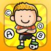 ABC fotboll! Spel för barn att lära att skriva ord och alfabetet på engelska