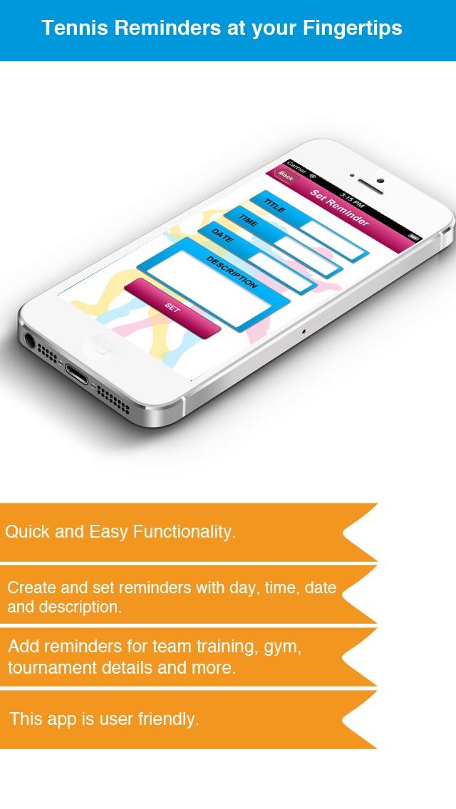 Теннис напоминание App - Расписание активности Расписание Напоминания-СпортСкриншоты 3