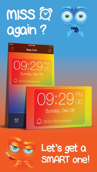 Step Out Of Bed! Smart alarm clock to get awake early with a tricky and awakening steps counter - Best alarm app to wake up on time with alarmy music ringtone Screenshot