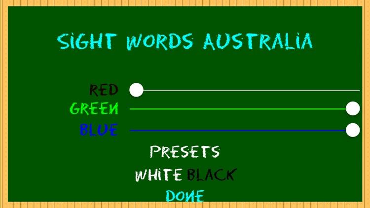 Sight Words Australia Home Version QLD by David Martin