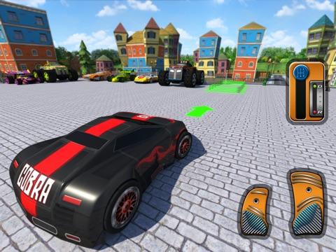 Screenshot #5 pour 3D Toy Car Parking Simulator 2014 - Cartoon Car, Bus & Truck Driving,  Parking & Racing Games Free