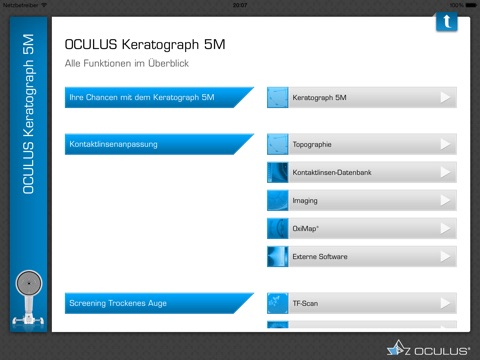 OCULUS Keratograph 5M Screenshot