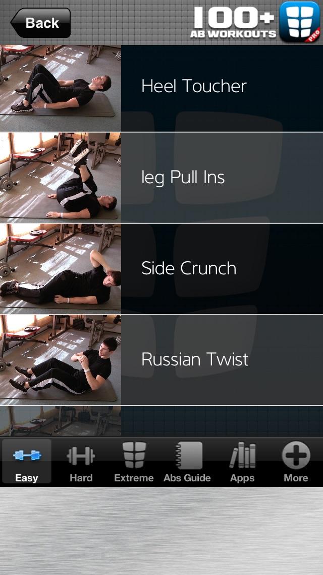 ABワークアウト:おなかの脂肪コアクランチのための100 +シックスパック腹筋フレックス演習のおすすめ画像1