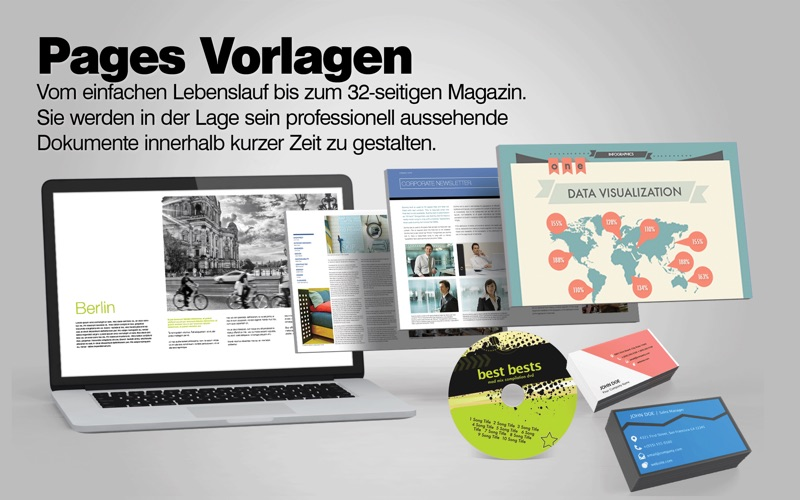 Vorlagen-Center für iWork: Pages Numbers Keynote Templates Bei nick ...