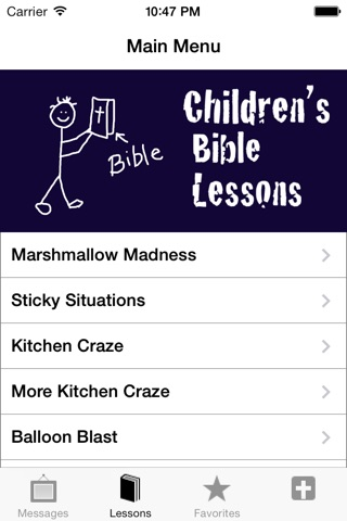Children's Bible Lessons screenshot 1