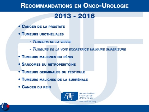 Recommandations AFU 2013-2016 screenshot 2