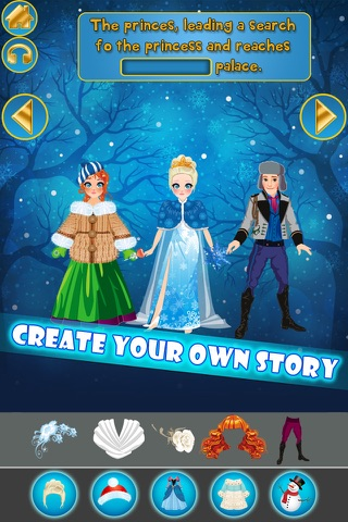My Own Little Interactive Snow Princess Story Book Game Free App screenshot 4