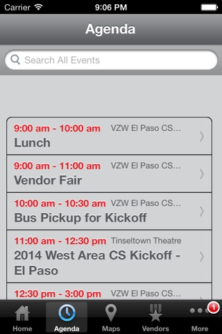 Verizon Wireless West Area Events screenshot 3
