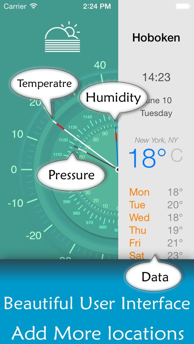 Прогноз погоды приложение - 7 дней Бесплатные прогнозы погоды для вашего текущего местоположения и во всем миреСкриншоты 2