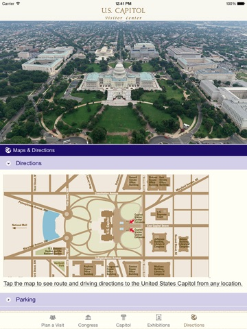US Capitol Visitor Guide On The App Store - Us capitol grounds map