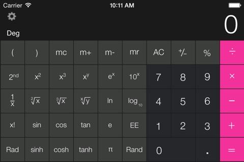 Calculator Free - for iPad screenshot 3