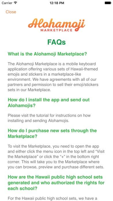 Alohamoji Marketplace Screenshot
