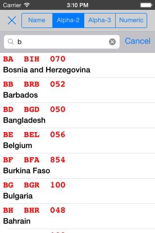 ISO 3166 screenshot 4