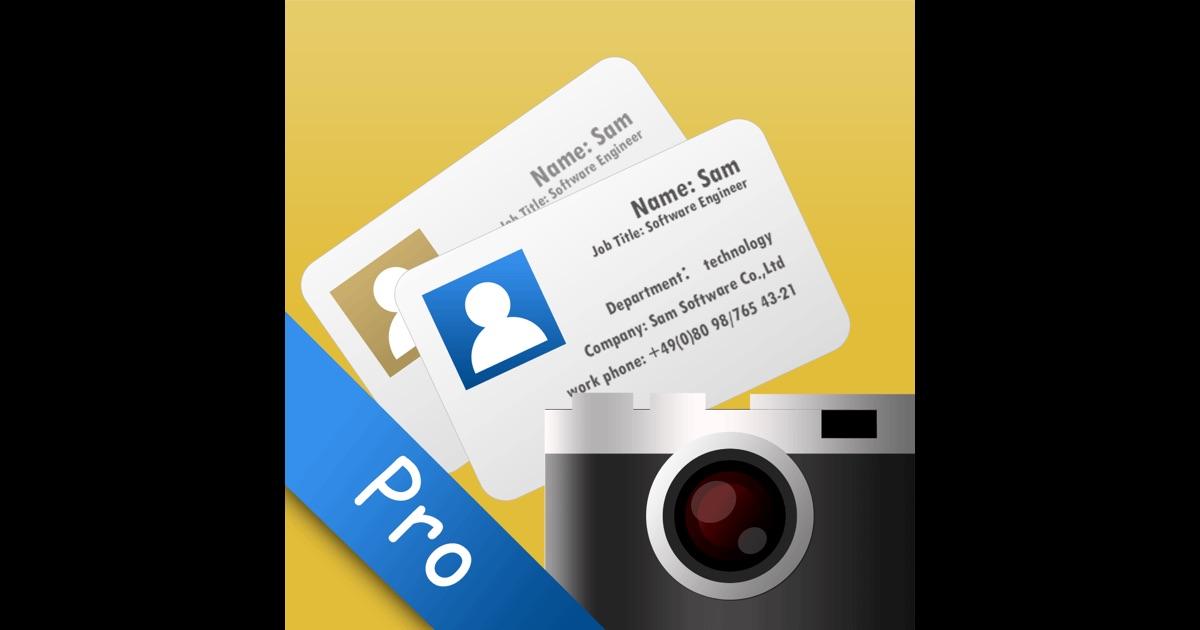 SamCard Pro business card reader & business card scanner