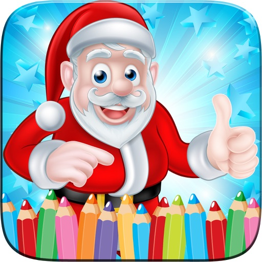 Christmast Coloring Book Drawing for Kid Games iOS App