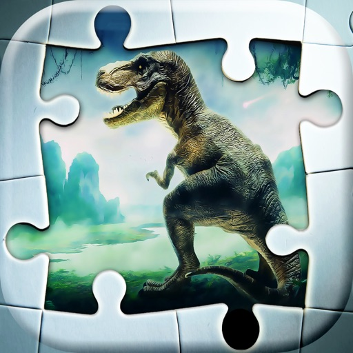 Dinosaur Puzzle Game Move Pieces To Solve Prehistoric Animals Jigsaw For Kids IOS