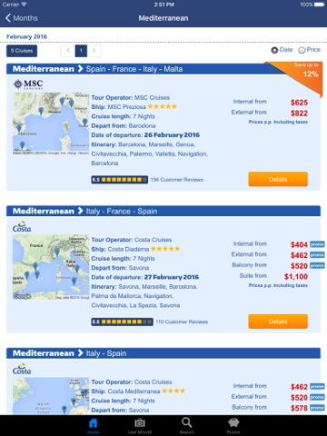 Taoticket iPad - Cruise Finder of Vacation Cruises & Last Minute screenshot 3