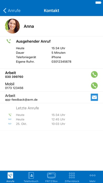 FRITZ!App Fon Screenshot