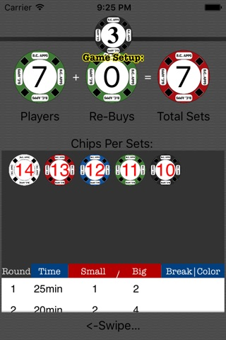 Poker Setup & Timer: Texas Hold'em screenshot 3