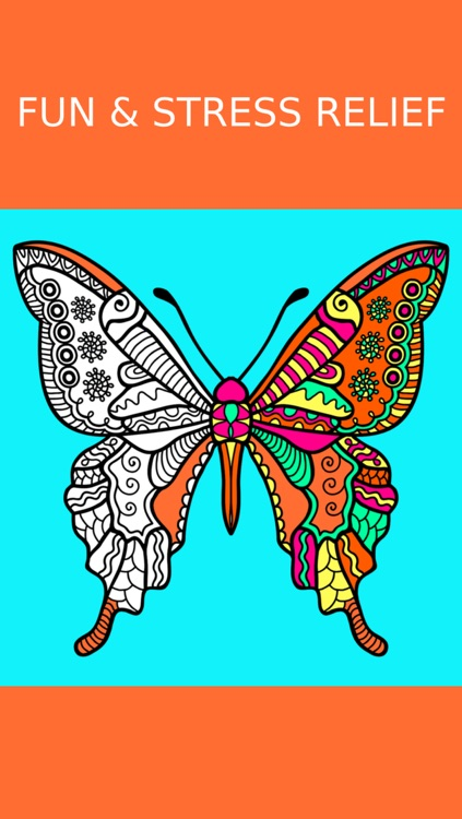 Butterfly Coloring Book For Adults Free Adult Art Therapy Pages