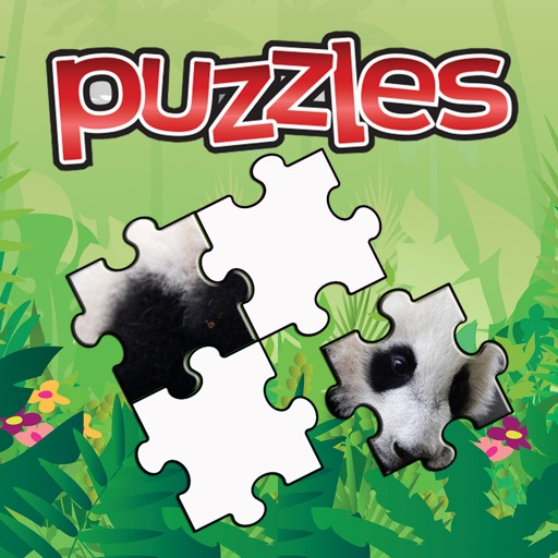 Panda Pair Cartoon Jigsaw Puzzle Kids Game iOS App