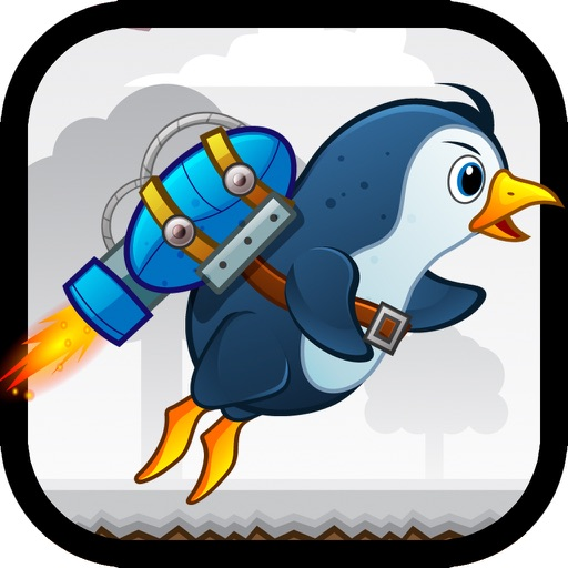 Jet Penguin - A Flying Flappy Tap Game iOS App