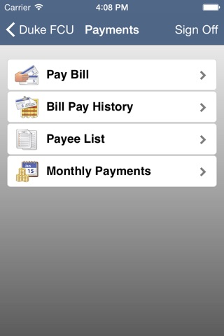 Duke Credit Union i-Mobile screenshot 3
