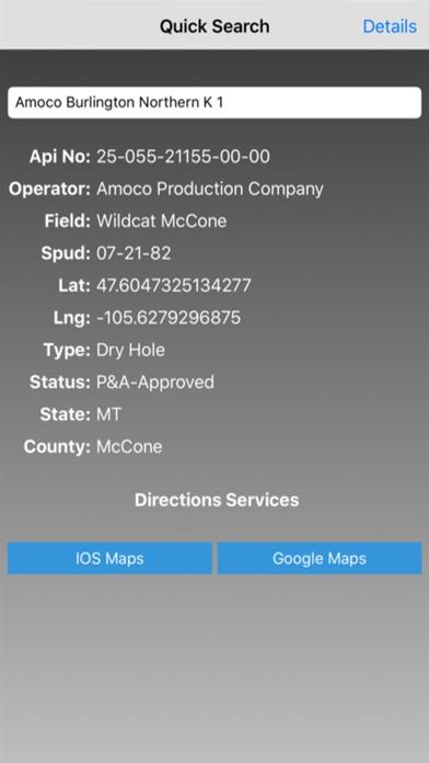 Screenshot for Bakken Well Locator in United States App Store