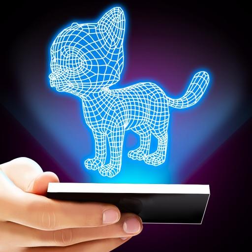 Hologram 3D Cat Prank iOS App