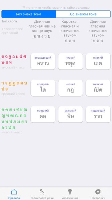 Thai Tones - тона тайского языкаСкриншоты 1