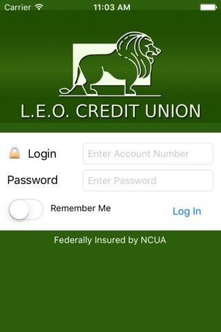 LEO CU Mobile Teller screenshot 1