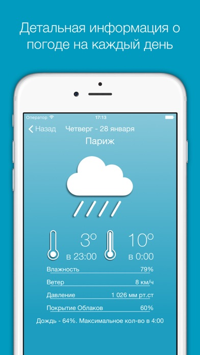 Simply Weather (Flat Design)Скриншоты 3
