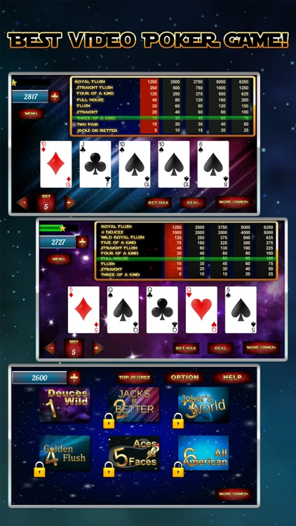 A Star Poker Video Poker Galaxy Wars Edition By Nikolay Petrov