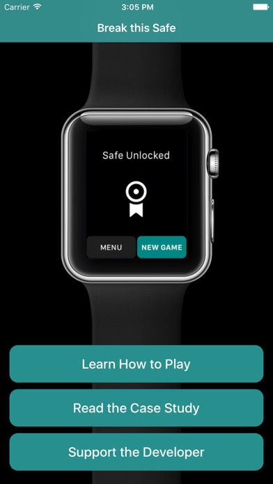 Screenshots of Break this Safe: A free game for your Apple Watch for iPhone