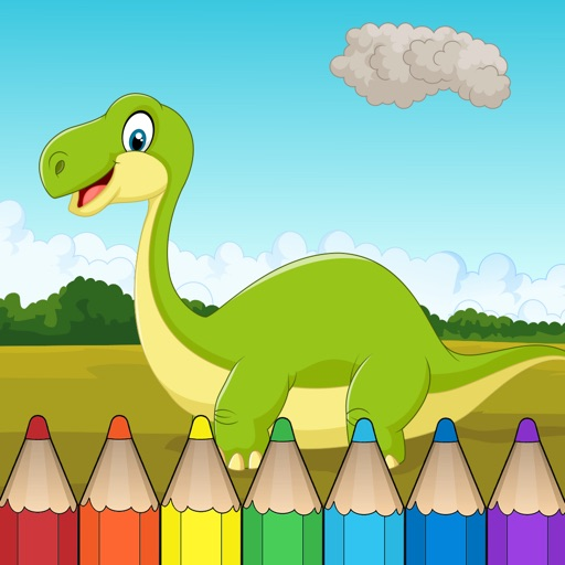 Dinosaur Coloring Book - Free Fun Educational Dinosaur Drawing Pages for Preschool iOS App