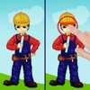 Spot differences for boys - funny free educational shape matching game for toddlers and preschool