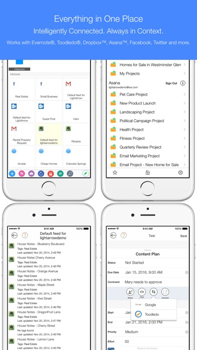 LifeTopix Calendar, Task Lists Screenshots