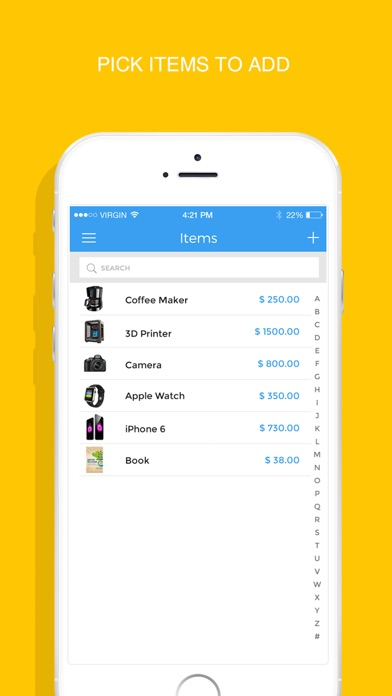 Cash Receipt Format Pdf Excel Invoicemaker  Simple Invoice Maker To Send Pdf Invoices  Rent Receipt Online Excel with Free Hvac Invoice Template Excel Iphone Screenshot  Retail Invoice Excel