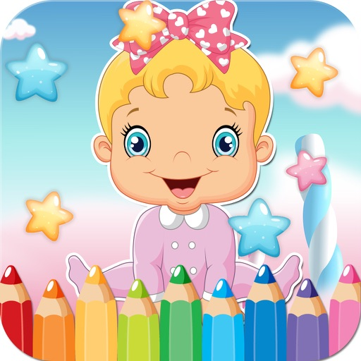Baby Drawing Coloring Book - Cute Caricature Art Ideas pages for kids iOS App