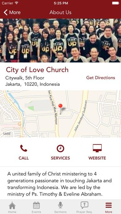 City of Love Church Screenshot on iOS