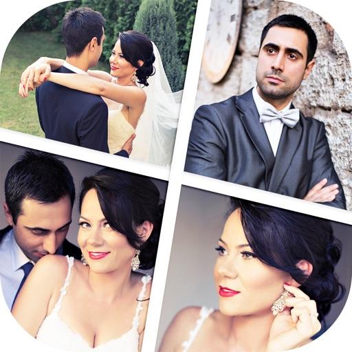 Hochzeit Fotocollage Maker Stellen Liebe Bilder Im Frisch