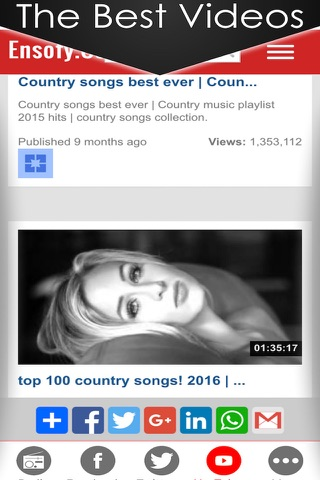Country music radio fm streaming with live stations playing classic and best country hits playlists screenshot 3