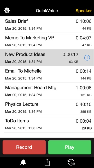 QuickVoice2Text Email... screenshot1