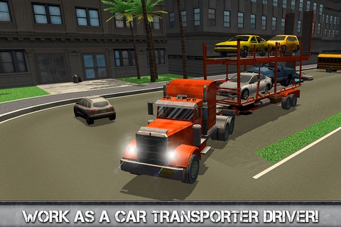 Car Transporter Driving Simulator 3D Full screenshot 1