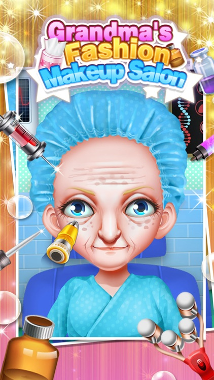 Grandma's Fashion Makeup Salon - Makeover, Dressup & SPA Games FREE